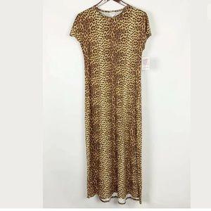 NWT LuLaRoe Leopard Maxi dress Maria